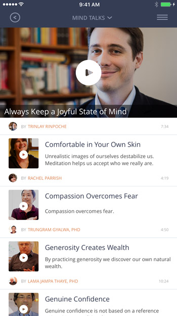 Mindworks offers Mind Talks on meditation topics to help you in your practice