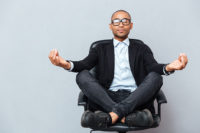 Meditate in a chair to receive the benefits