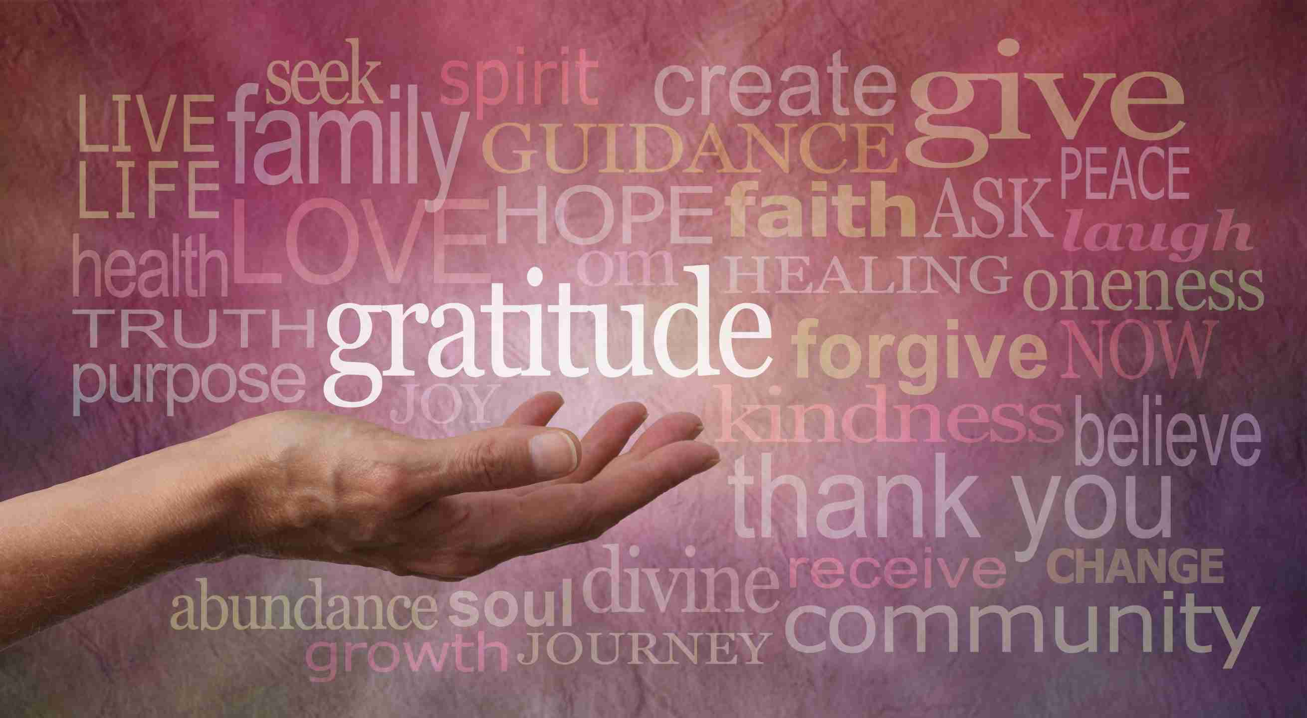 Experiencing gratitude in meditation is important